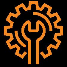 Orange Wrench Icon